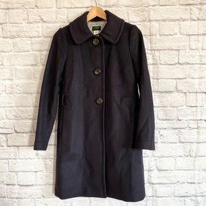 J. CREW Navy Blue Wool & Cashmere Coat